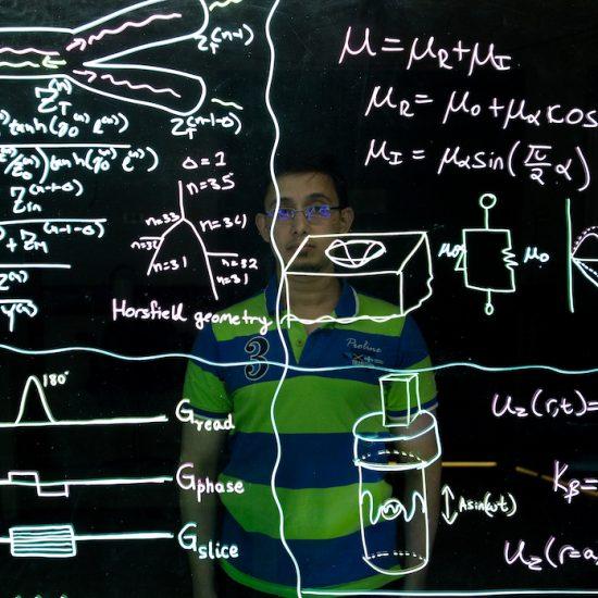 student solving a problem