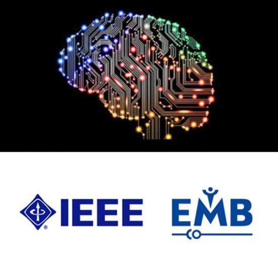 IEEE logo with brain design