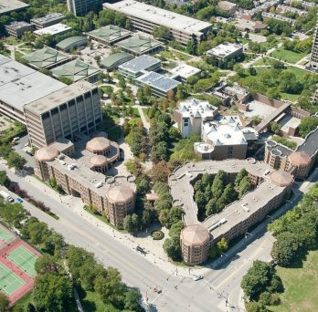 Overhead view of east campus