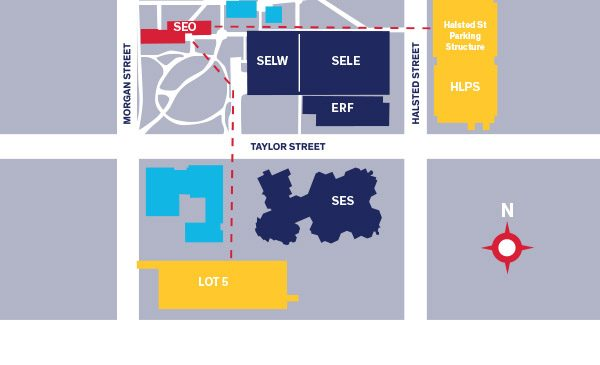 Map of East Campus Parking