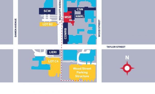 Map of West Campus Parking